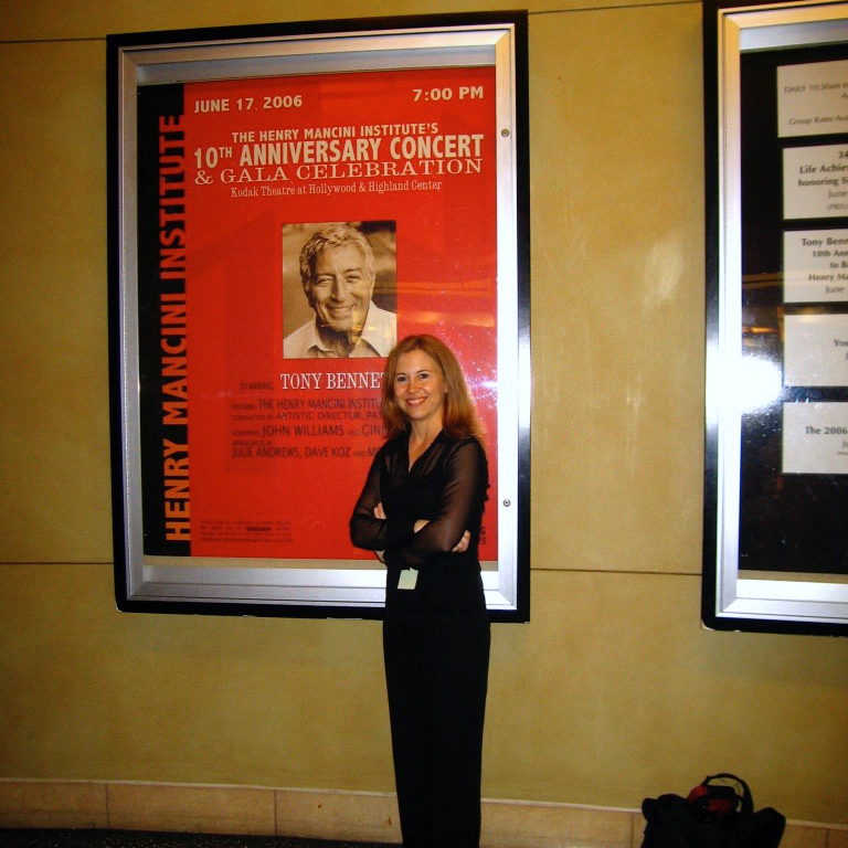 Tony Bennet concert marquee